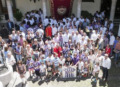 La Diputación de Valladolid recibe al Real Valladolid tras lograr el ascenso a la Liga Santander