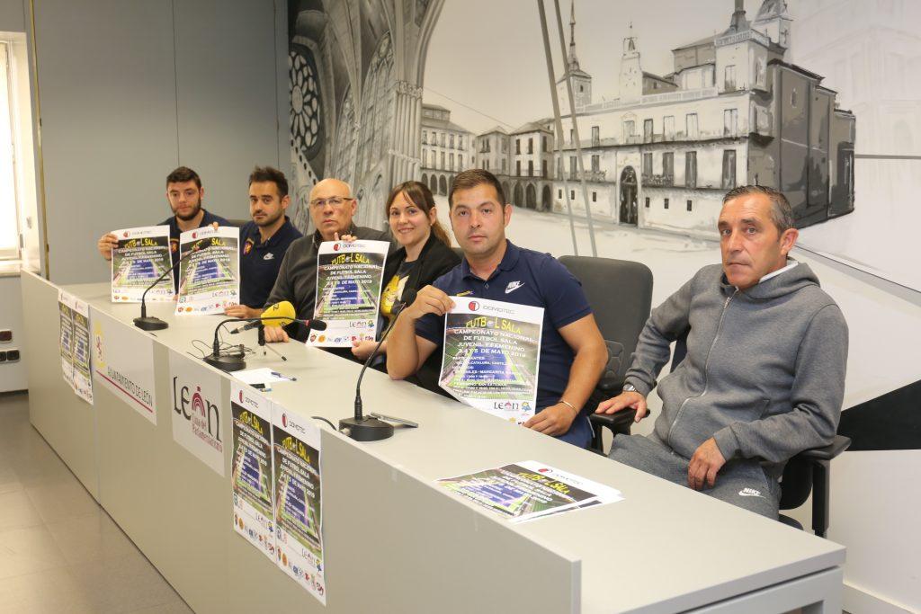 León acoge del 3 al 5 de mayo el Campeonato Nacional de Fútbol Sala Juvenil y Femenino