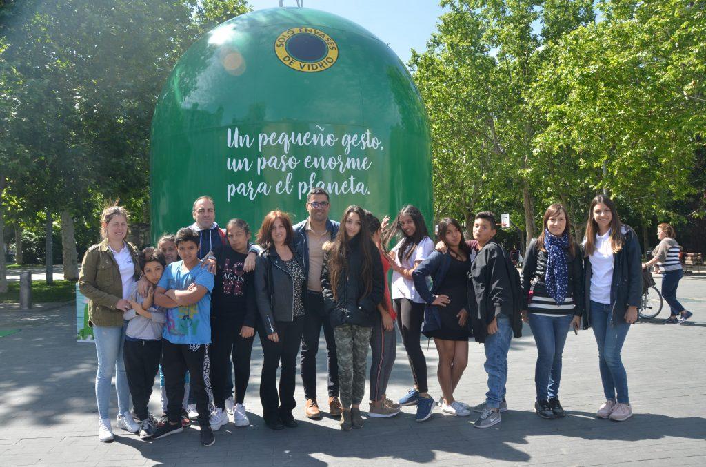 Ecovidrio instala un contenedor de ocho metros de altura en Valladolid