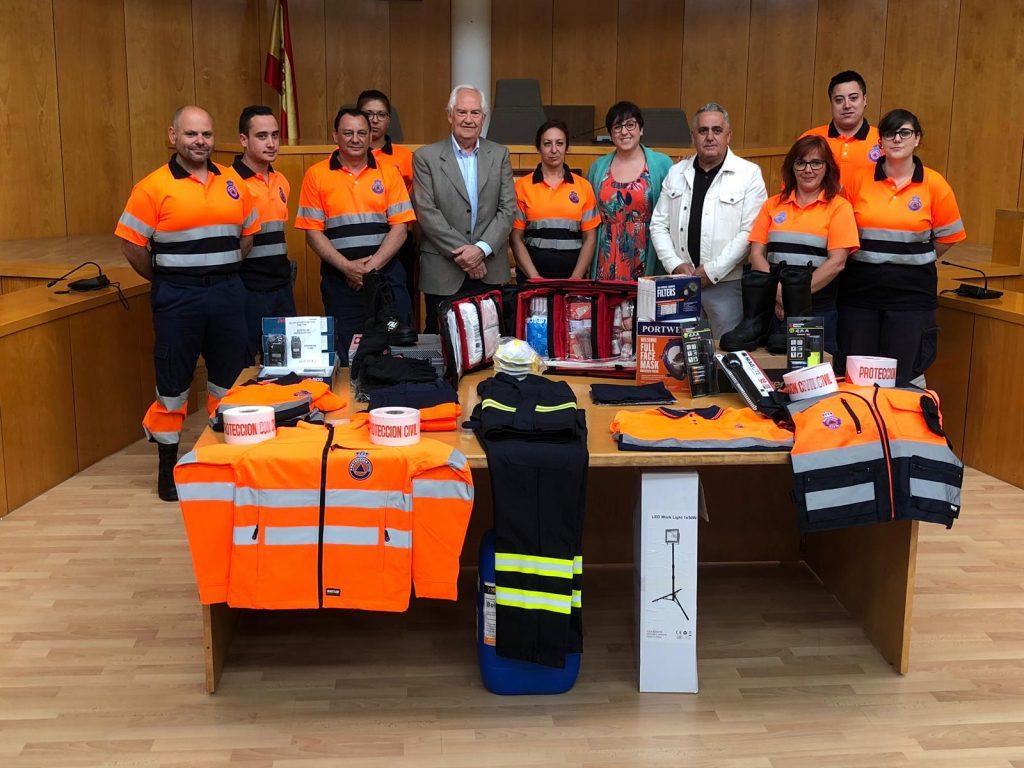 Protección Civil de San Andrés recibe nuevo material para extinción de incendios y atención al peregrino