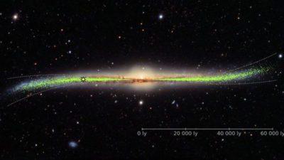 """Vía Láctea: el sorprendente mapa que muestra que nuestra galaxia está """"deformada y retorcida"""" (y que no es plana como se pensaba"""
